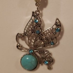 Beautiful butterfly torquoise necklace